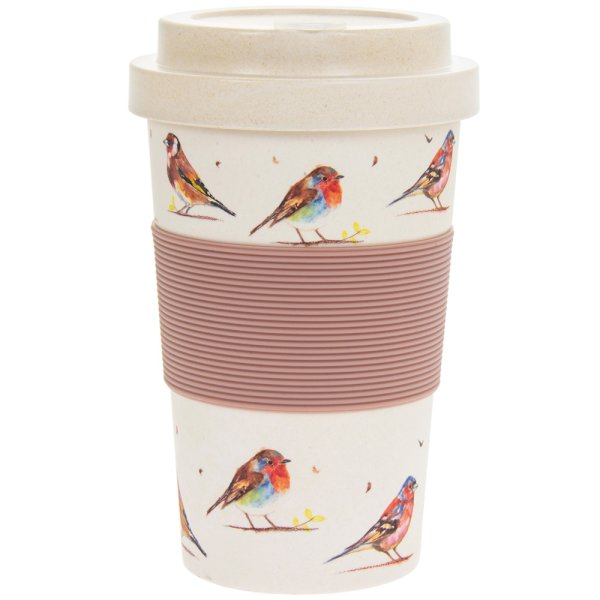 BAMBOO TRAVEL MUG BIRDS