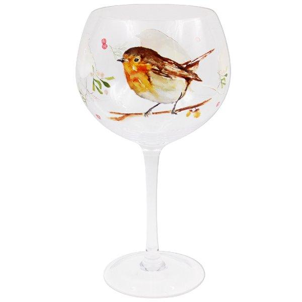 WINTER ROBINS GIN GLASS
