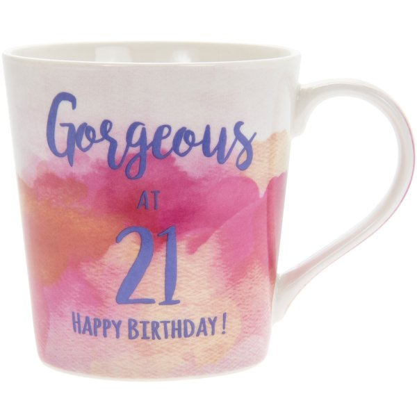 WATERCOLOUR HAPPY 21ST MUG