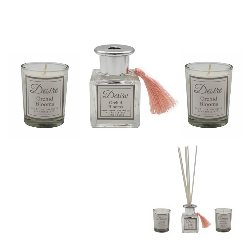 DESIRE DIFFUSER&CANDLES ORCHID
