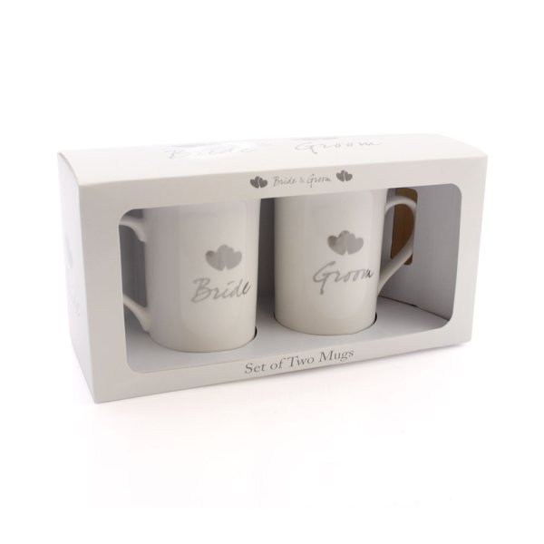 BRIDE & GROOM MUGS SET 2