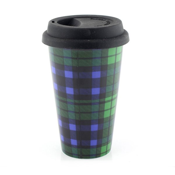 BLACK WATCH TRAVEL MUG