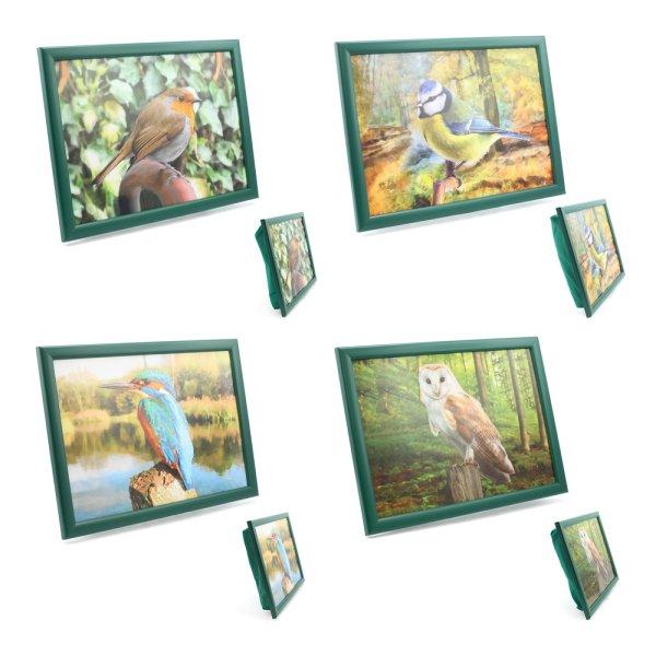 BIRDS LAPTRAY 4 ASST