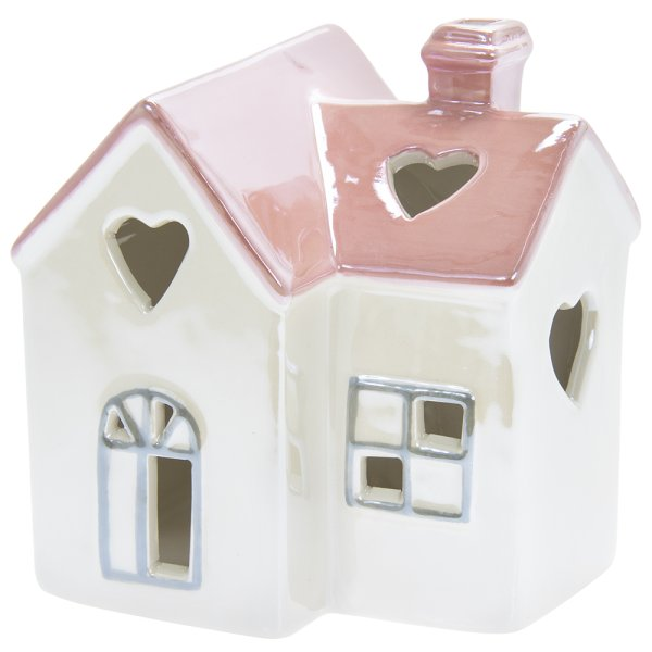 LED HOUSE HEART PINK & WHITE
