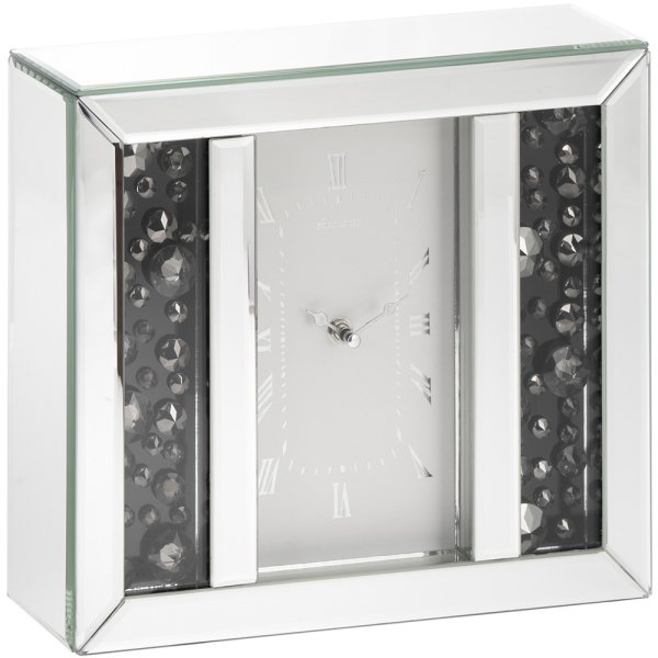 SMOKE CRYSTAL MIRROR CLOCK