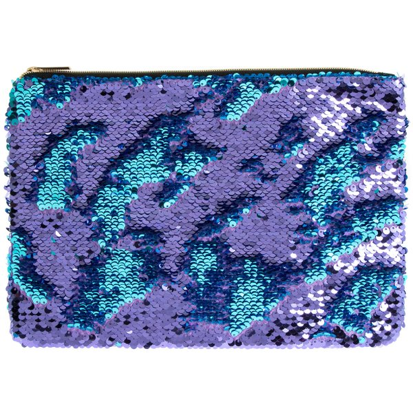 SEQUIN CLUTCH TURQ & PURPLE