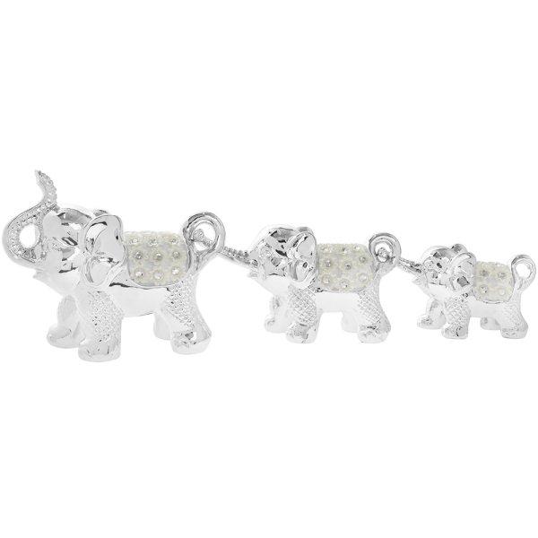 SILVER MILLE ELEPHANT  3 SET