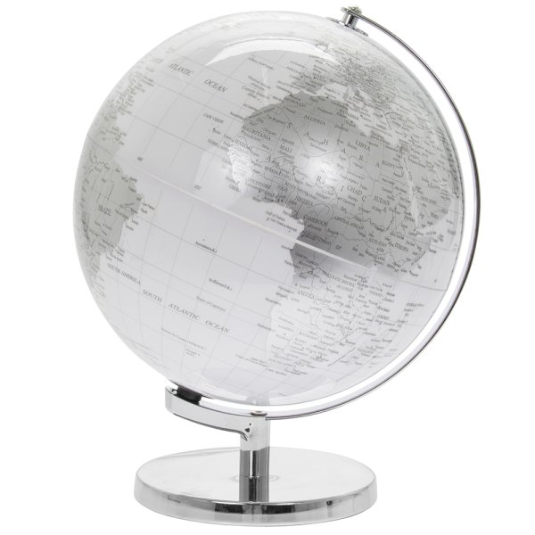 GLOBE SILVER & WHITE LIGHT UP