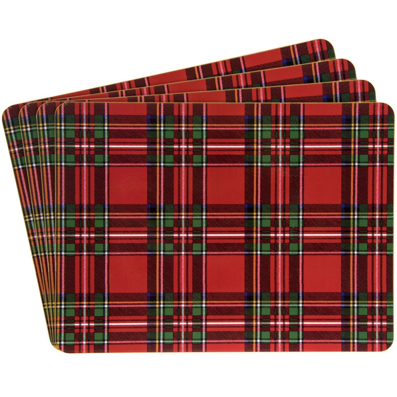 TARTAN PLACEMATS SET OF 4