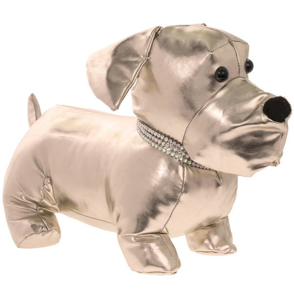 DOG DOORSTOP ROSE GOLD