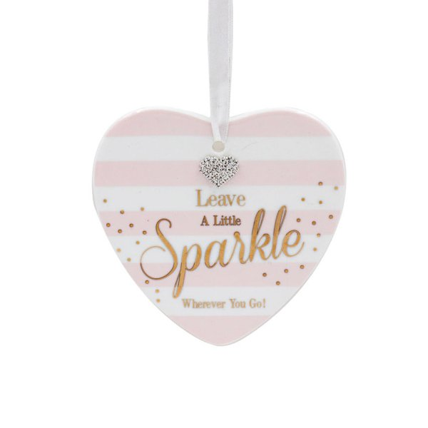 MAD DOTS SPARKLE HEART PLAQUE