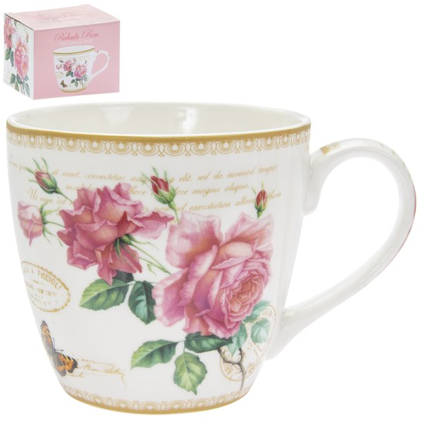 REDOUTE ROSE BREAKFAST MUG