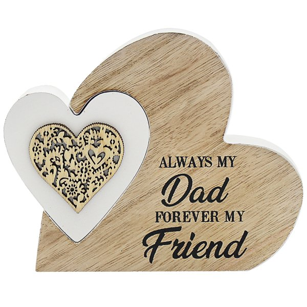 SENTIMENTS DOUBLE HEART DAD