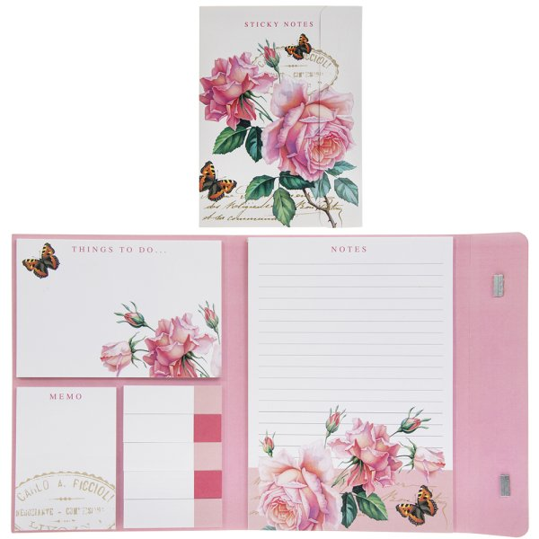 REDOUTE ROSE STICKY NOTES