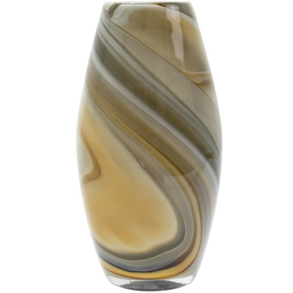 VINCENZA VASE GREY MED