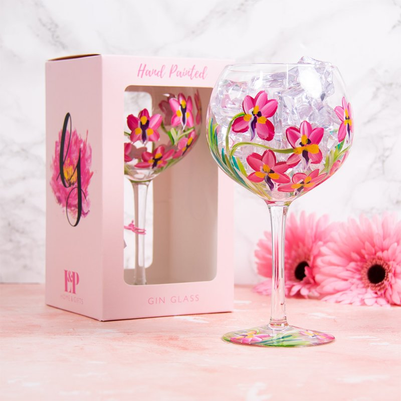 PINK ORCHIDS GLASS