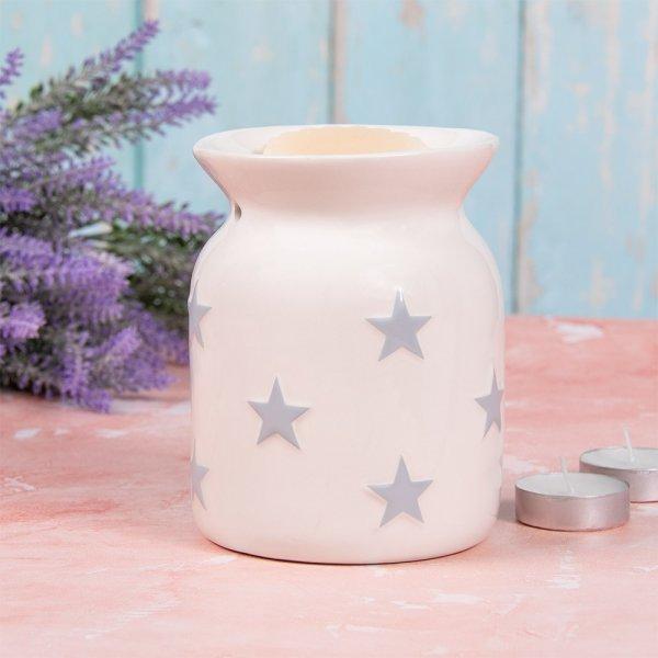 WHITE & GREY STARS WAX WARMER