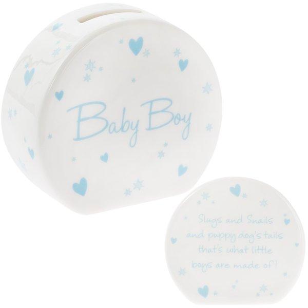NEW BABY BOY MONEY BOX