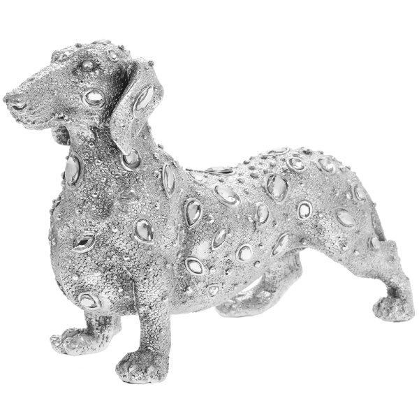 SILVER ART DIAMANTE DACHSHUND