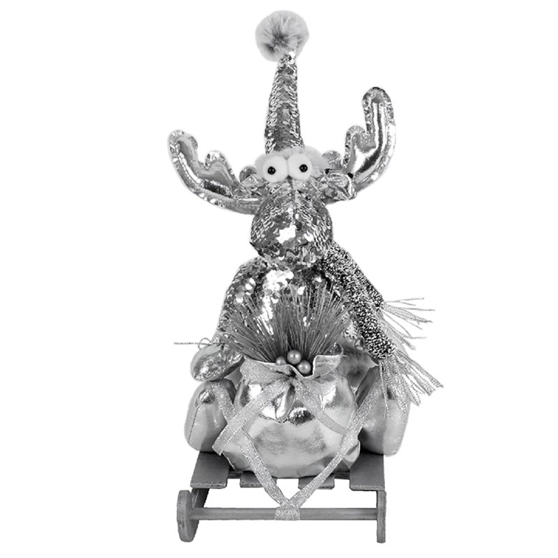 REINDEER SILVER WITHSLEIGH 14""