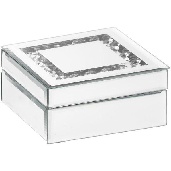 MIRROR & CRYSTAL TRINKET BOX