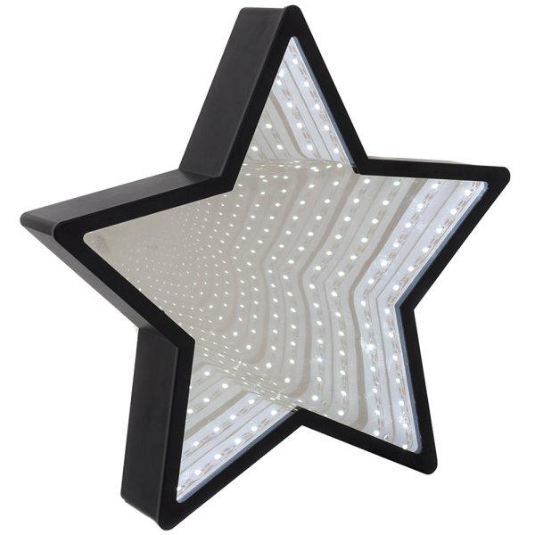 INFINITY MIRROR STAR BLK LED