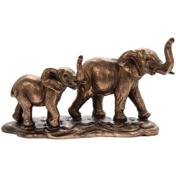 BRONZED ELEPHANT & CALF