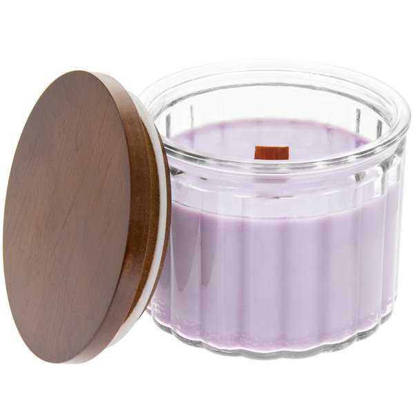 WOODEN WICK CANDLE R'CURRANT L