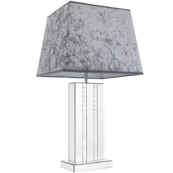 CRYSTAL CLEAR MIRR LAMP GREY