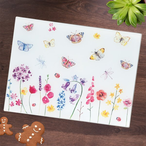 BUTTERFLY GARDEN CUTTING BOARD