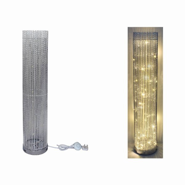 SILVER LED LAMP ROUND 100CM