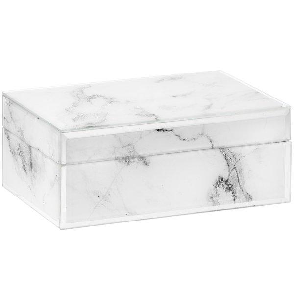 MIRROR MARBLE JEWELLERY BOX