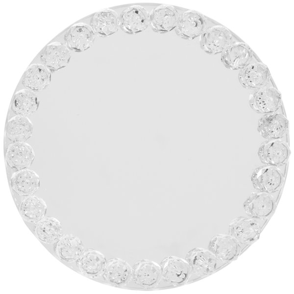 DIAMANTE MIRROR CANDLE PLT10CM