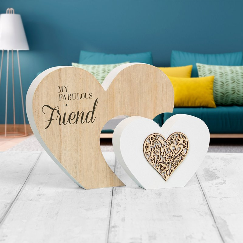 DBL HEART PLQ FAB FRIEND L