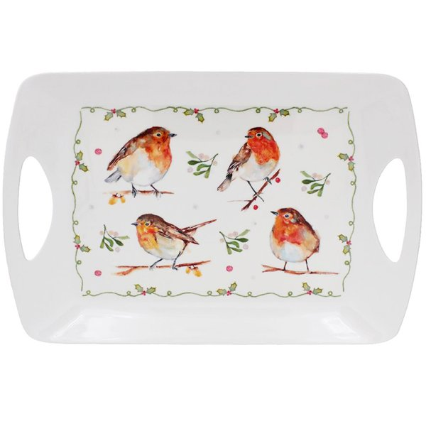 WINTER ROBINS TRAY LARGE