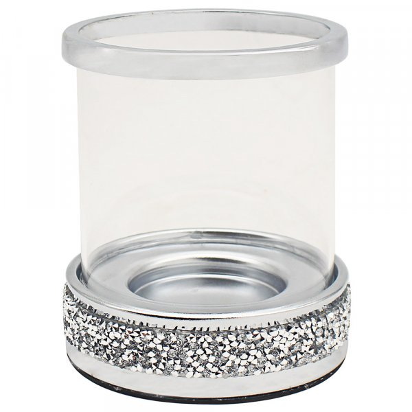 METAL MULTI CRYS CANDLE HOLDER
