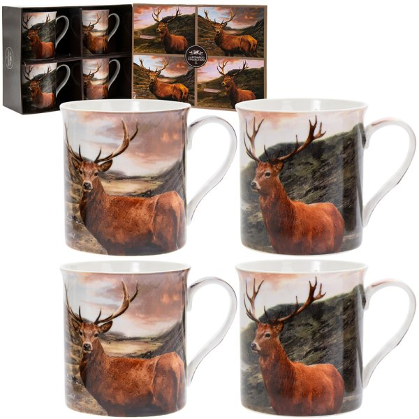 STAGS MUGS SET OF 4