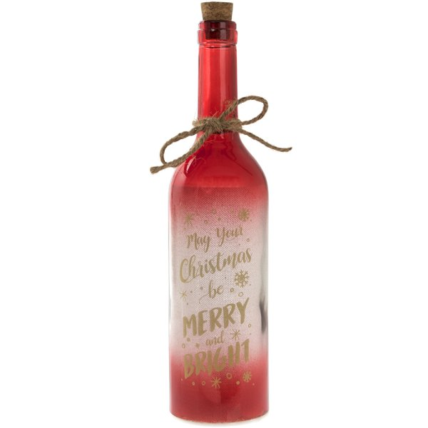 LED BOTTLE RED MAY YR XMAS BE