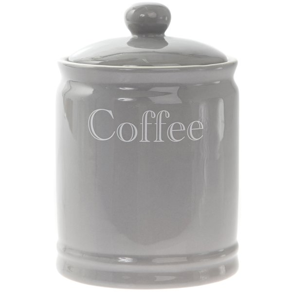 GREY CLASSIC COFFEE CANISTER