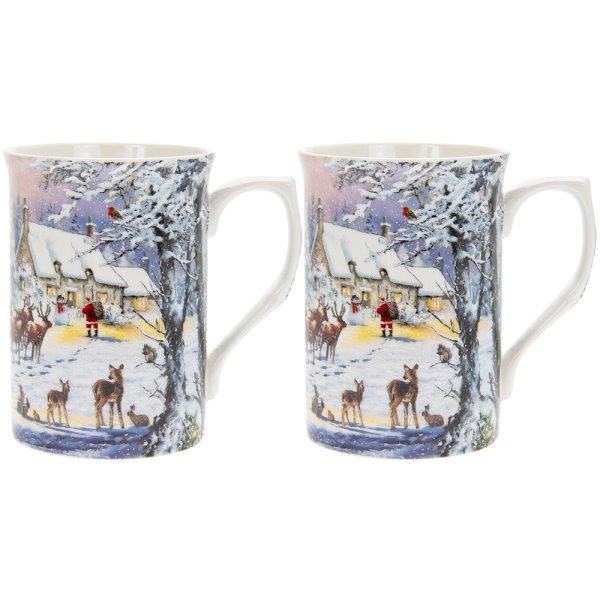 THE MAGIC OF XMAS MUGS 2 SET