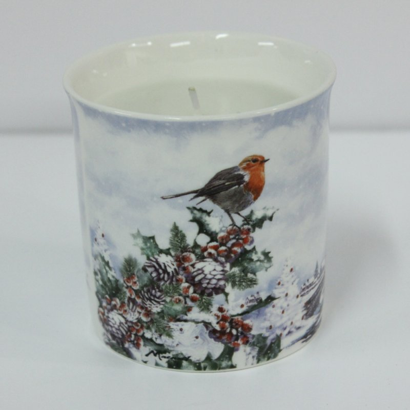 CHRISTMAS ROBINS SCENTEDCANDLE