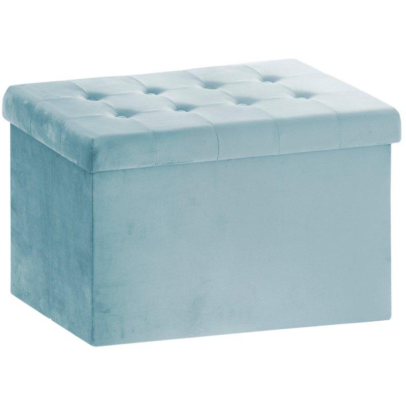 TEAL VELVET FOLDING BOX LARGE