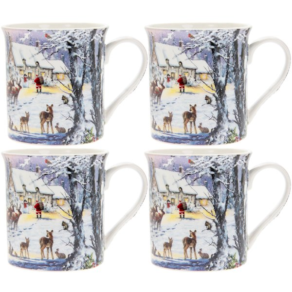 THE MAGIC OF XMAS MUGS 4 SET