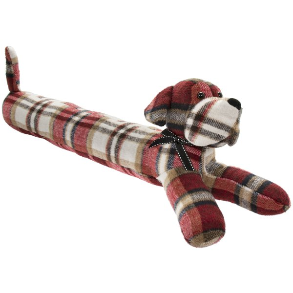 RED CHECK DOG DRAUGHT EXCLUDER