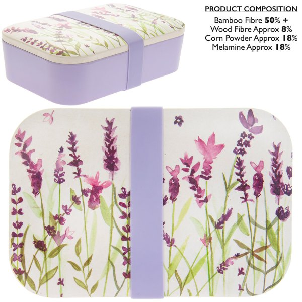 LAVENDER BAMBOO LUNCH BOX