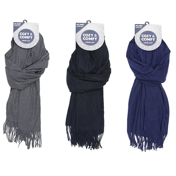 COZY MENS SCARVES 3 ASST