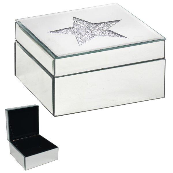 CRYSTAL JEWELLERY BOX STAR