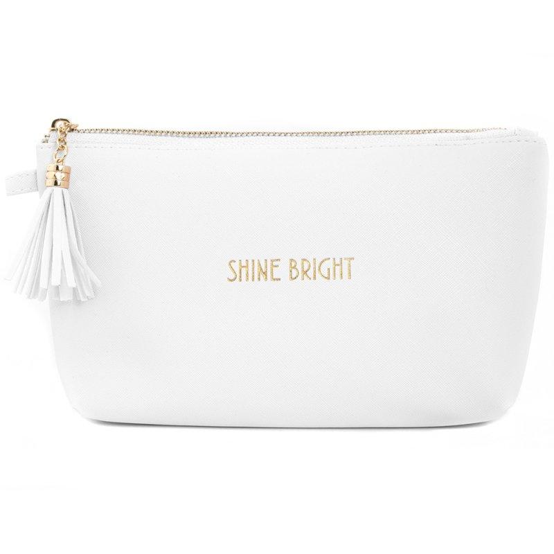 SHINE BRIGHT COSMETIC BAG WHT