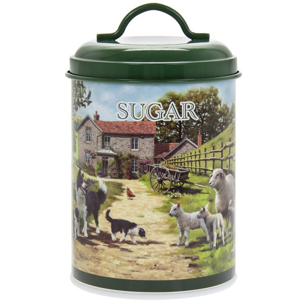COLLIE & SHEEP SUGAR CANISTER
