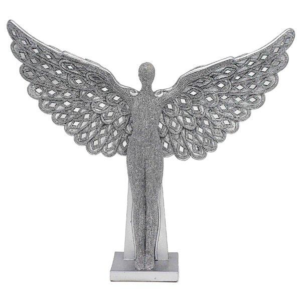 "SILVER ART ANGEL STANDING 13"""